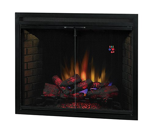 ClassicFlame 39EB500GRS 39 Traditional Built in Electric Fireplace Insert with Glass Door and Mesh Screen Dual Voltage Option 0 2
