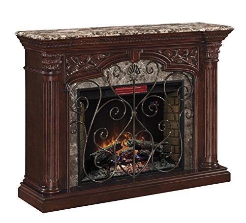 ClassicFlame Astoria Wall Fireplace Mantel Empire Cherry Electric Fireplace Insert sold separately 0 0