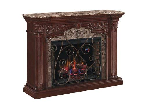 ClassicFlame Astoria Wall Fireplace Mantel Empire Cherry Electric Fireplace Insert sold separately 0 1
