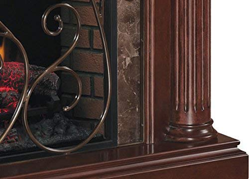 ClassicFlame Astoria Wall Fireplace Mantel Empire Cherry Electric Fireplace Insert sold separately 0 3