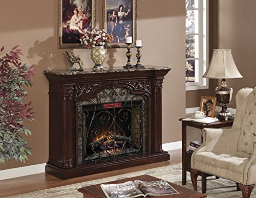 ClassicFlame Astoria Wall Fireplace Mantel Empire Cherry Electric Fireplace Insert sold separately 0