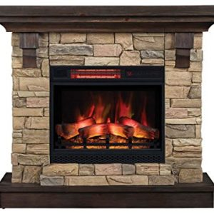 ClassicFlame Eugene Wall Mantel Aged Coffee 0