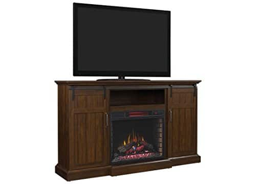 ClassicFlame Manning Infrared Electric Fireplace Entertainment Center Saw Cut Espresso 28MM9954 PD01 0 1