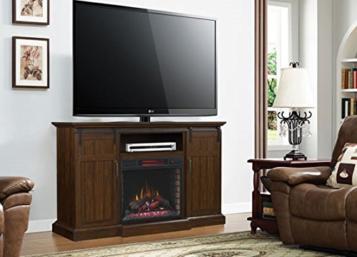 ClassicFlame Manning Infrared Electric Fireplace Entertainment Center Saw Cut Espresso 28MM9954 PD01 0 2