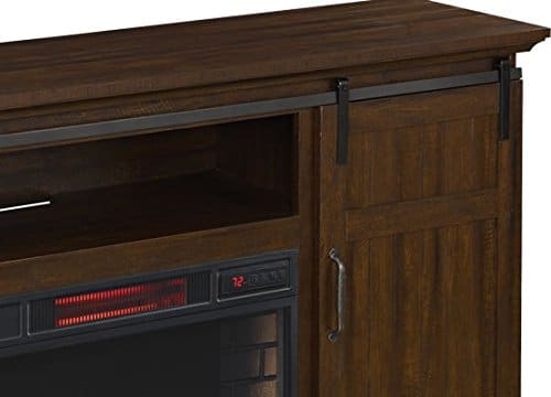 ClassicFlame Manning Infrared Electric Fireplace Entertainment Center Saw Cut Espresso 28MM9954 PD01 0 3
