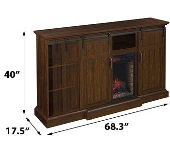 ClassicFlame Manning Infrared Electric Fireplace Entertainment Center Saw Cut Espresso 28MM9954 PD01 0 5