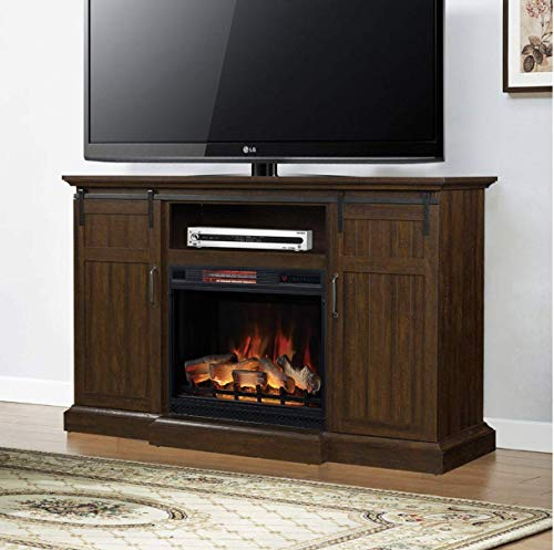 ClassicFlame Manning Infrared Electric Fireplace Entertainment Center Saw Cut Espresso 28MM9954 PD01 0