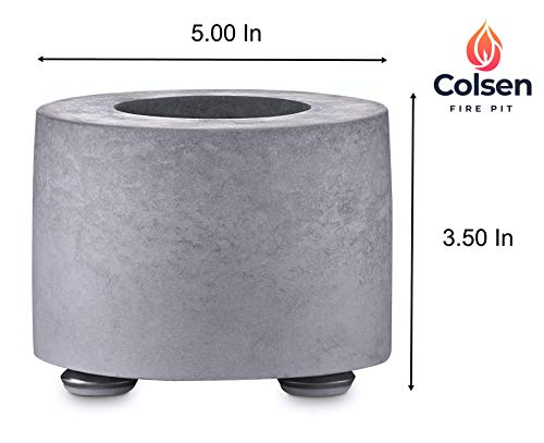 Colsen Tabletop Rubbing Alcohol Fireplace Indoor Outdoor Fire Pit Portable Fire Concrete Bowl Pot Fireplace 0 1