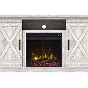 Comfort Smart Killian Electric Fireplace TV Stand Sargent Oak 0