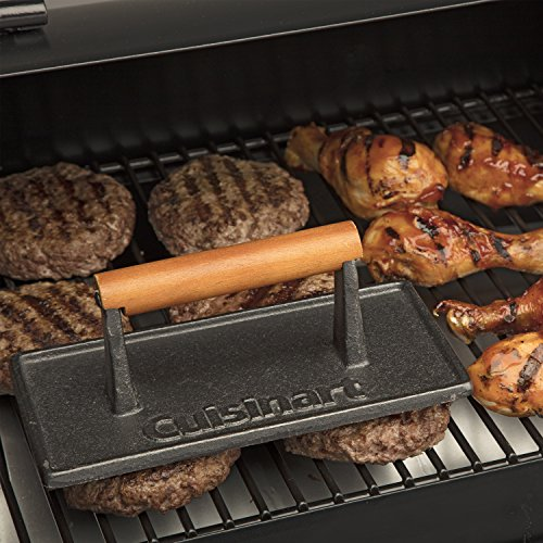 Cuisinart CGPR 221 Cast Iron Grill Press Wood Handle 0 2