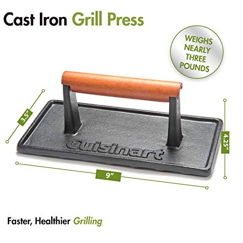 Cuisinart CGPR 221 Cast Iron Grill Press Wood Handle 0 4