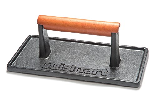 Cuisinart CGPR 221 Cast Iron Grill Press Wood Handle 0