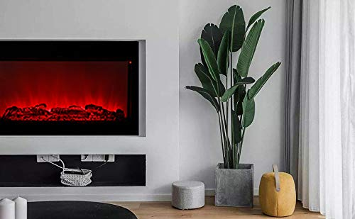 DOIT 38Inch Large Embedded Electric Color Changing Room FireplaceInsertCorner Space Heater wRemote Control Glass View Real Flame Color Options 1500W 0 3