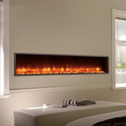 DYNASTY DY BT63 Built in Linear Electric Fireplace 63 Inch 0 1