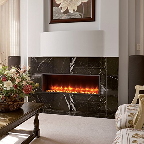 DYNASTY DY BT63 Built in Linear Electric Fireplace 63 Inch 0 2
