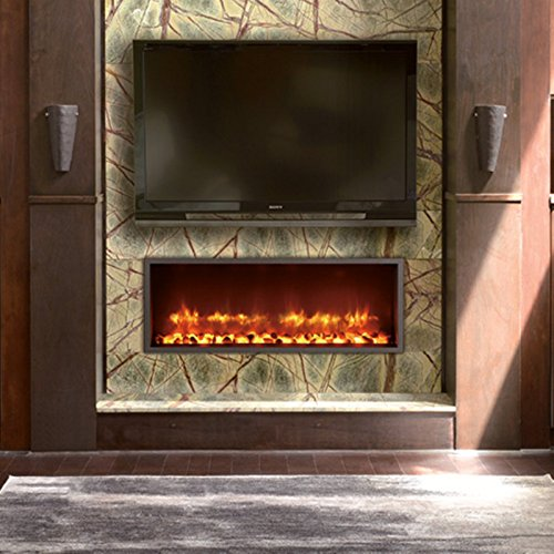 DYNASTY DY BT63 Built in Linear Electric Fireplace 63 Inch 0 3