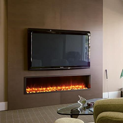 DYNASTY DY BT63 Built in Linear Electric Fireplace 63 Inch 0 4