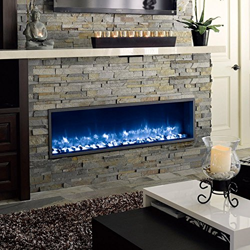 DYNASTY DY BT63 Built in Linear Electric Fireplace 63 Inch 0