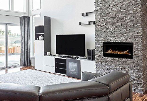 Dimplex Prism 34 Inch Electric Fireplace with Driftwood Log Set BLF3451 LF34DWS KIT 0 0