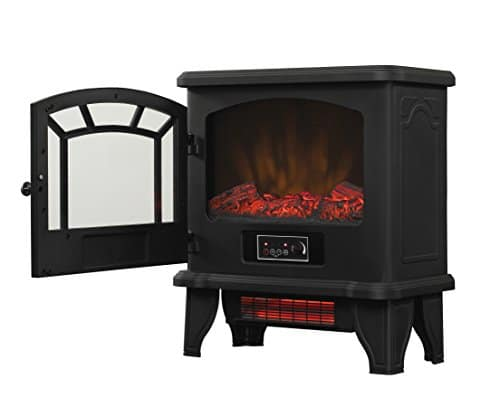 Duraflame DFI 550 22 Freestanding Infrared Quartz Fireplace Stove with Remote Control 1500W Black 0 0