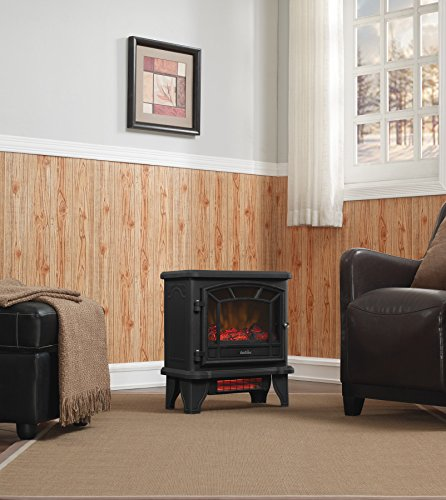 Duraflame DFI 550 22 Freestanding Infrared Quartz Fireplace Stove with Remote Control 1500W Black 0 1