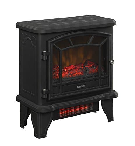 Duraflame DFI 550 22 Freestanding Infrared Quartz Fireplace Stove with Remote Control 1500W Black 0 2