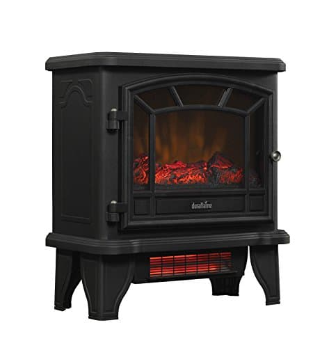 Duraflame DFI 550 22 Freestanding Infrared Quartz Fireplace Stove with Remote Control 1500W Black 0 3