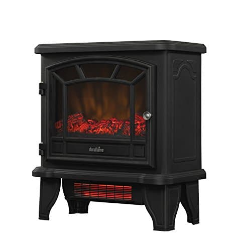 Duraflame DFI 550 22 Freestanding Infrared Quartz Fireplace Stove with Remote Control 1500W Black 0 4