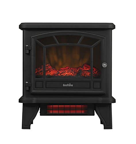 Duraflame DFI 550 22 Freestanding Infrared Quartz Fireplace Stove with Remote Control 1500W Black 0
