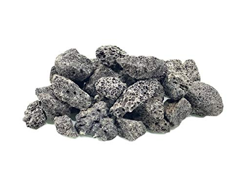 Executive Deals All Natural Lava Rocks for Gas Fire PitsFireplaceGrillsBarbecues 34 Inch Available in BlackRed 10 LBS or 40 LBS 0