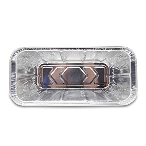 Fig Leaf 30 Pack Blackstone Grills Compatible Drip Pans for 36 and 28 Inch Griddle l Rear Grease Cup Liners l Heavy Duty Disposable Aluminum Foil 0 0