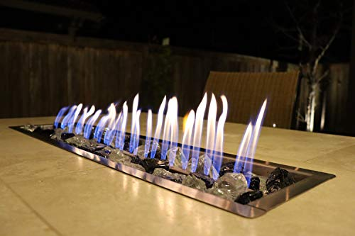 Fire Pit Glass for Outdoor Propane Fire Pit Blend of Cobalt Blue and Crystal Colors Extreme Temperature Rating Good for Natural Gas or Propane fire pits 10 pounds 0 1