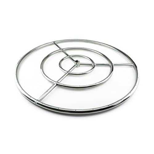 Fire Ring Burner for Fire Pits and Fireplaces 30 Inch Stainless Steel Burner 0