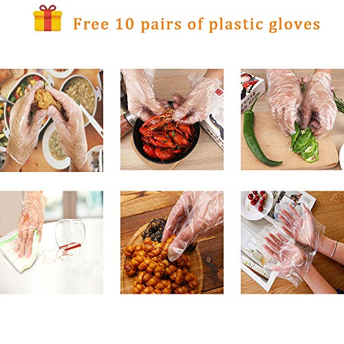 Fu Store Bamboo Skewers 8 Inch Bamboo Sticks Shish Kabob SkewersGrill Appetizer Fruit Corn Chocolate Fountain CocktailSet of 100 Packwith Free 10 Pairs of Gloves 0 5