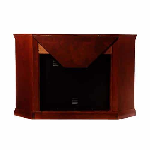 Furniture HotSpot Claremont Smart Corner Fireplace wStorage Cherry 0 1