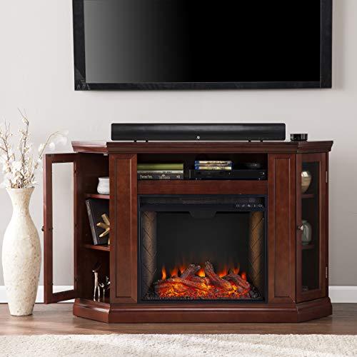 Furniture HotSpot Claremont Smart Corner Fireplace wStorage Cherry 0 5