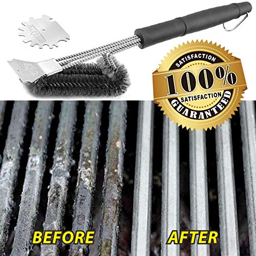 GRILLART Grill Brush and Scraper 18 Inch Wire Bristle Brush Double Scrapers Best Barbecue Cleaning Brush for Weber All GasCharcoal Grilling Grates Universal Fit BBQ Grill Accessories 0 5