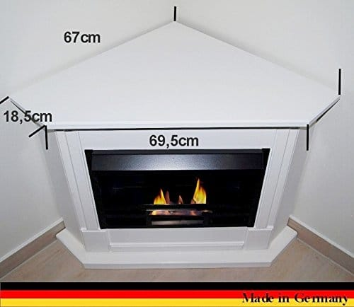 Gel Ethanol Fire Places Ethanol Corner Fireplace Model Moskau White 0 2