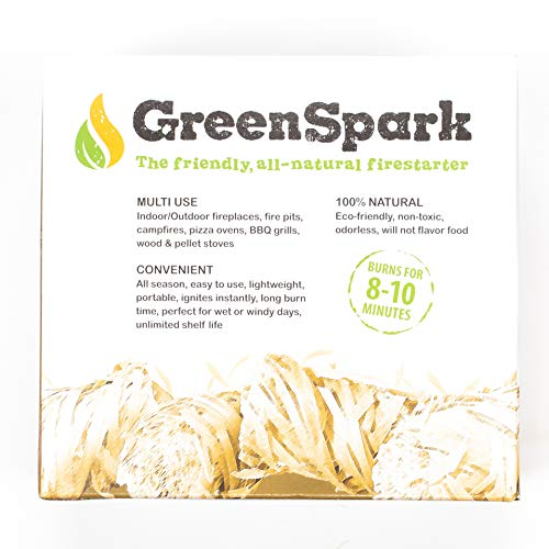 GreenSpark Friendly Fire Starter Bundles 70 Count 100 All Natural 8 10 Min Burn Fireplace Campfire Fire Pit BBQ Grill Wood Pellet Stove IndoorOutdoor All Weather Super Fast Lighting 0 3