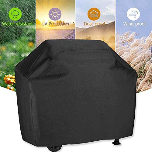 Grill Cover 58 inch BBQ Gas Grill Cover Waterproof Weather Resistant UV and Fade Resistant UV Resistant Materia for Weber Char Broil Nexgrill Grills and More VIBOOS 0 0