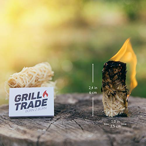 Grill Trade Tumbleweeds Fire Starter All Natural Fire Starters easily burn up your Wood Stove Grill Fireplace Camping Fire Pit BBQ Charcoal Chimney Pizza Oven 50 Firelighters in Box 0 1