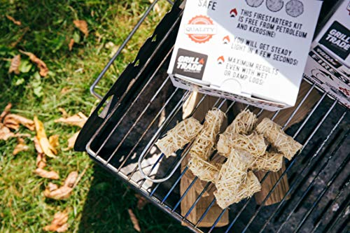 Grill Trade Tumbleweeds Fire Starter All Natural Fire Starters easily burn up your Wood Stove Grill Fireplace Camping Fire Pit BBQ Charcoal Chimney Pizza Oven 50 Firelighters in Box 0 4