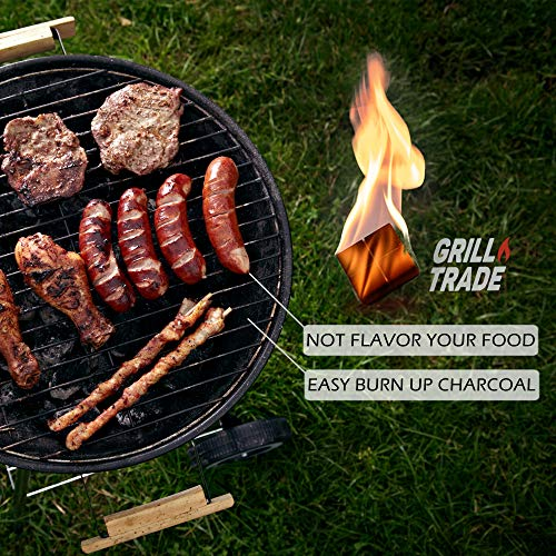 GrillTrade Fire Starter Squares 144 Easy Burn Your BBQ Grill Camping Fire Wood Stove Smoker Pellets Lump Charcoal Fireplace Fire Cubes are The Best Barbeque Accessories 100 All Natural 0 1