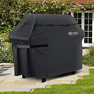 Grillman Premium 58 Inch BBQ Grill Cover Heavy Duty Gas Grill Cover For Weber Brinkmann Char Broil etc Rip Proof UV Water Resistant 0 4