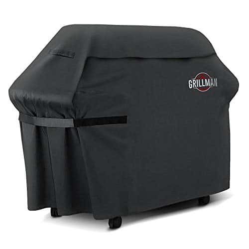 Grillman Premium 58 Inch BBQ Grill Cover Heavy Duty Gas Grill Cover For Weber Brinkmann Char Broil etc Rip Proof UV Water Resistant 0
