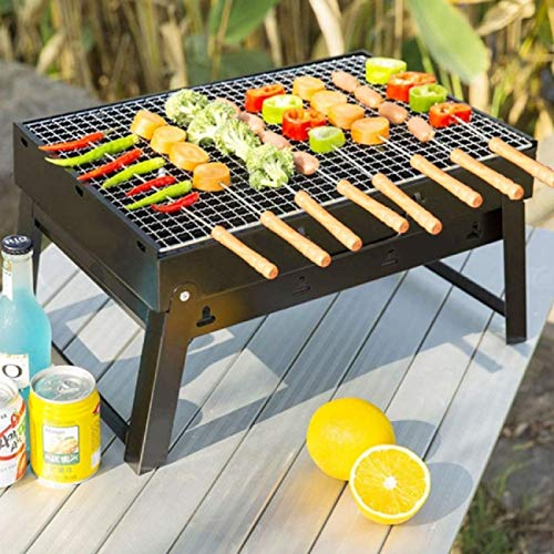 HAKSEN 12 PCS Barbecue Skewers with Wood Handle Marshmallow Roasting Sticks Meat Hot Dog Fork Best for BBQ Camping Cookware Campfire Grill Cooking Stainless Steel 0 5