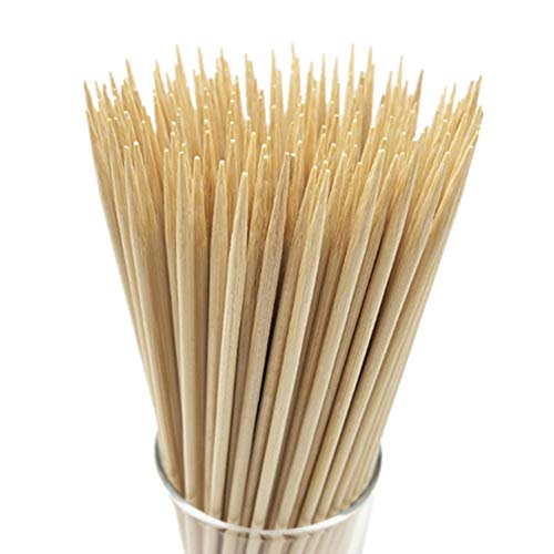 HOPELF 6 Natural Bamboo Skewers for BBQAppetiserFruitCocktailKabobChocolate FountainGrillingBarbecueKitchenCrafting and Party 4mm More Size Choices 81012141630100 PCS 0