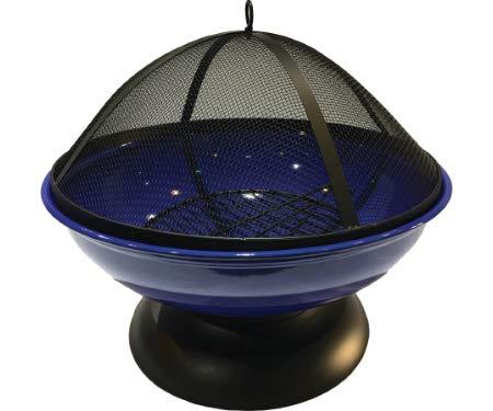 Harbor Gardens LF272ABLUE Blue Enameled Fire BowlPit Sphere Powder Coated Steel 0