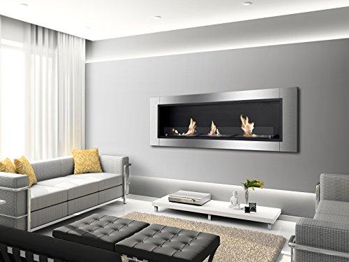 IGNIS Recessed Wall Ventless Bio Ethanol Fireplace Ardella 0 1