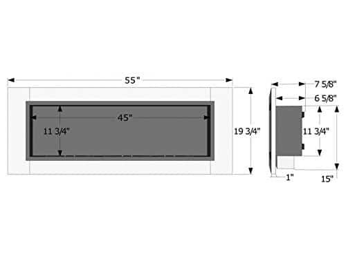 IGNIS Recessed Wall Ventless Bio Ethanol Fireplace Ardella 0 2